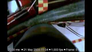 Ford Mustang convertible | 2010 | Side Pole Crash Test | NHTSA | CrashNet1