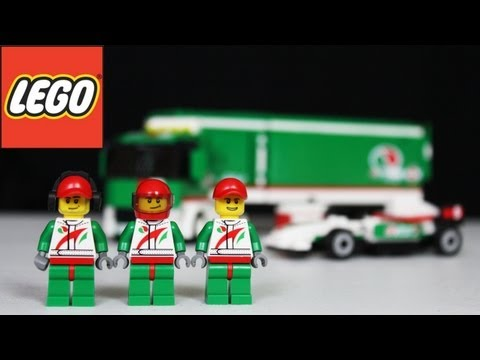 LEGO Grand Prix Truck Review. Unboxing. Time Lapse Build City 60025