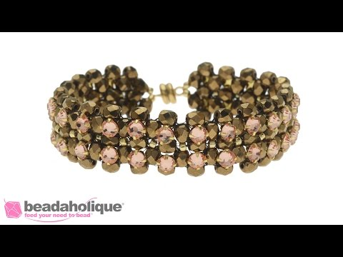 How to Embellish Right Angle Weave with Rose Montee Beads