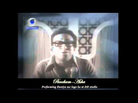Pancham Asha Performing Duniya Me Logon Ko At Doordarshan Studio video