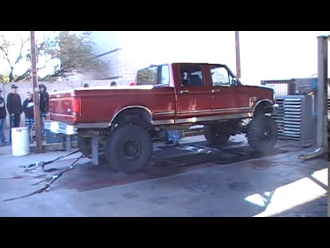 lifted  ford    liter powerstroke   dyno youtube