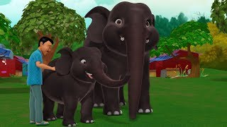 The Elephant and the Tailor | Kannada Stories for Kids | Infobells
