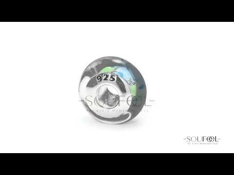 Soufeel Coconut Palm Tree Murano Glass Bead 925 Sterling Silver