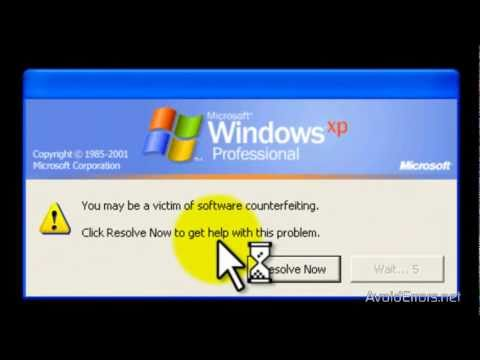 How to Remove Windows Genuine Advantage Notification by AvoidErrors
