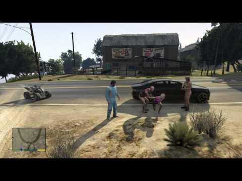 GTA 5 naked men kidnap women