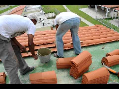 Como pegar teja asfaltica
