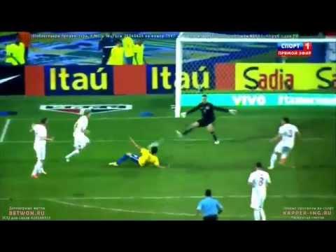 BRASIL VS SERBIA GOL FRED Brazil 2014