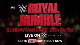 WWE ROYAL RUMBLE 2015 – CENA VS. LESNAR VS. ROLLINS, JANUARY 25 LIVE ON WWE NETWORK