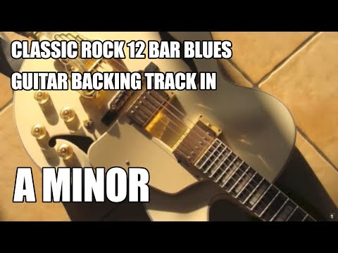 12 Bar Blues Guitar Backing Track In A Minor