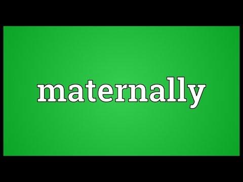 Header of maternally