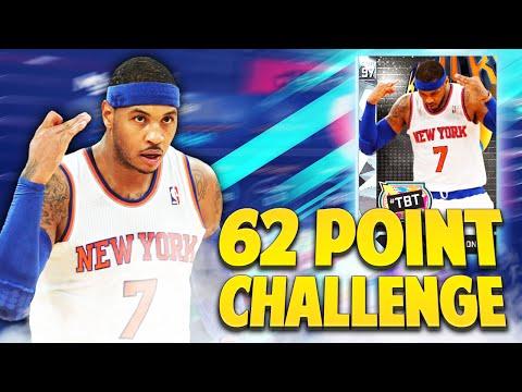DIAMOND CARMELO ANTHONY 62 POINT CHALLENGE! NBA 2K16 MyTEAM CHALLENGE!