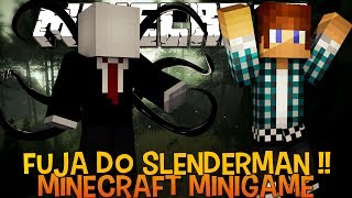 Fuja do Slenderman !! - Minecraft ( Novo MiniGame)