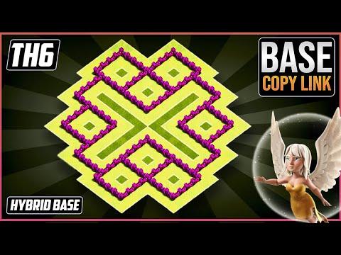 New BEST TH6 TROPHY/HYBRID[defense] Base 2018!! COC Town Hall 6 Hybrid Base Design - Clash of Clans
