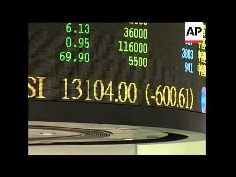 Asia stock markets tumble, SKor, Japan, HKong down nearly 4 percent