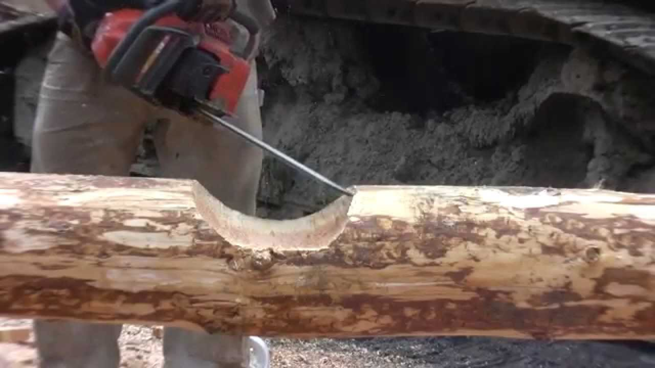 How To Notch A Log For Building A Log Home Or Log Cabin