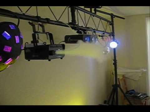 Testing my American DJ LTS-50T Trusbrug