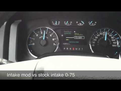 2011 F150 5.0 intake mod vs stock intake