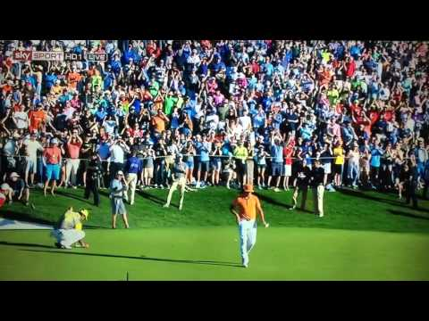 Waste Management Phoenix Open 2016 - PLAYOFF - Rickie Fowler and Hideki Matsuyama.