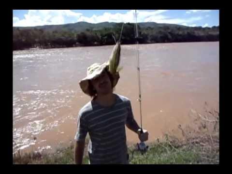 Pescada no rio Abaeté
