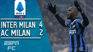 Inter Milan 4-2 AC Milan: Nerazzurri stage stunning comeback to win Milan derby | Serie A Highlights