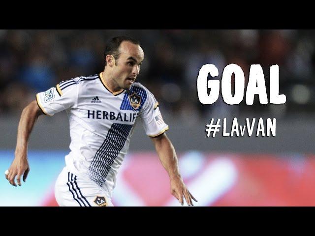 GOAL: Landon Donovan slides in to finish at the far post | L.A. Galaxy vs Vancouver Whitecaps