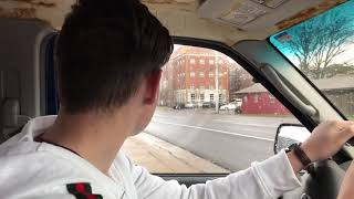 Jesse drives after permit test