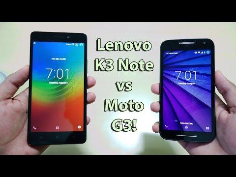 Lenovo K3 note vs Moto G3 ! Complete Detailed Comparison !