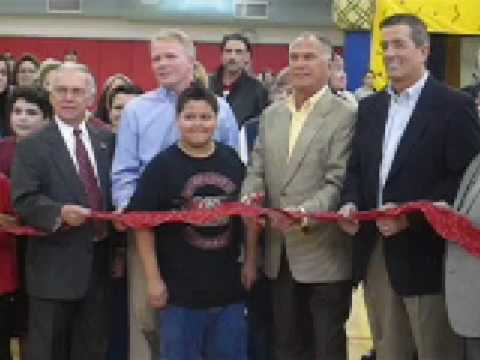 Secaucus Recreation Center Ribbon Cuting - 2/22/2009. Brief clip of ribbon cutting by Mayor Dennis Elwell to open the Secaucus (NJ) Recreation Center on F..