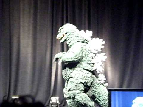 person in godzilla suit