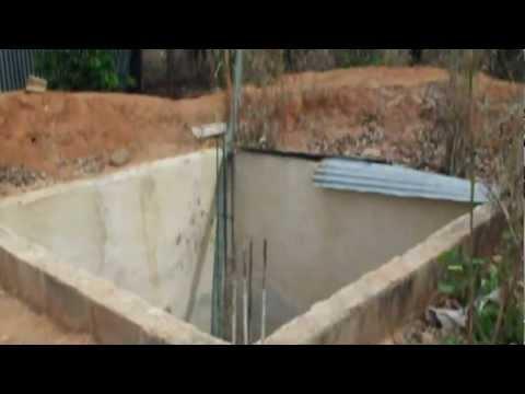 Costruzione di cisterna sottoterra per raccogliere l 39 acqua piovana youtube - Depurare l acqua di casa ...