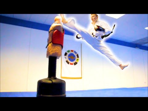 Taekwondo Kicking & Training Sampler On The Bob Xl video