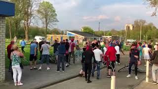 Massale vechtpartij na Groninger Boys – Helpman (video)