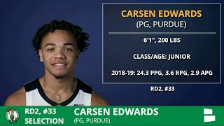 2019 NBA Draft: Boston Celtics Select Carsen Edwards From Purdue With Pick #33 In 2nd Round