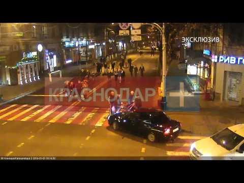 Велосипедист наехал на автомобиль, Краснодар
