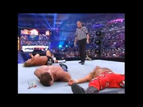 WWE Wrestlemania XX Triple H vs Shawn Michaels vs Chris Benoit