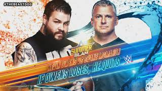 WWE SummerSlam 2019 Kevin Owens vs Shane McMahon Official Match Card V2