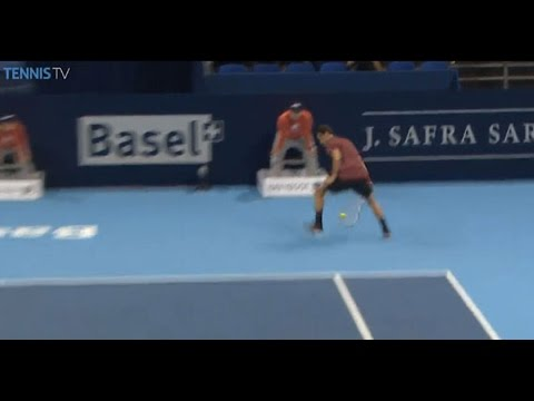 Grigor Dimitrov Hits A 'Tweener Hot Shot In Basel