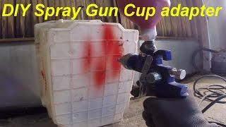 DIY 45° Cup Adapter For Spray Gun