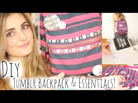 DIY Tumblr Inspired Backpack & Essentials for School! | Aspyn Ovard