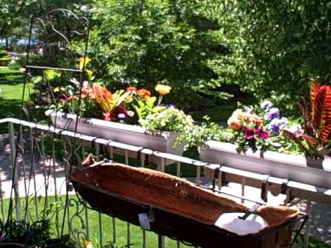 How to hang planters on balcony patio railings youtube - Planters to hang on railing ...