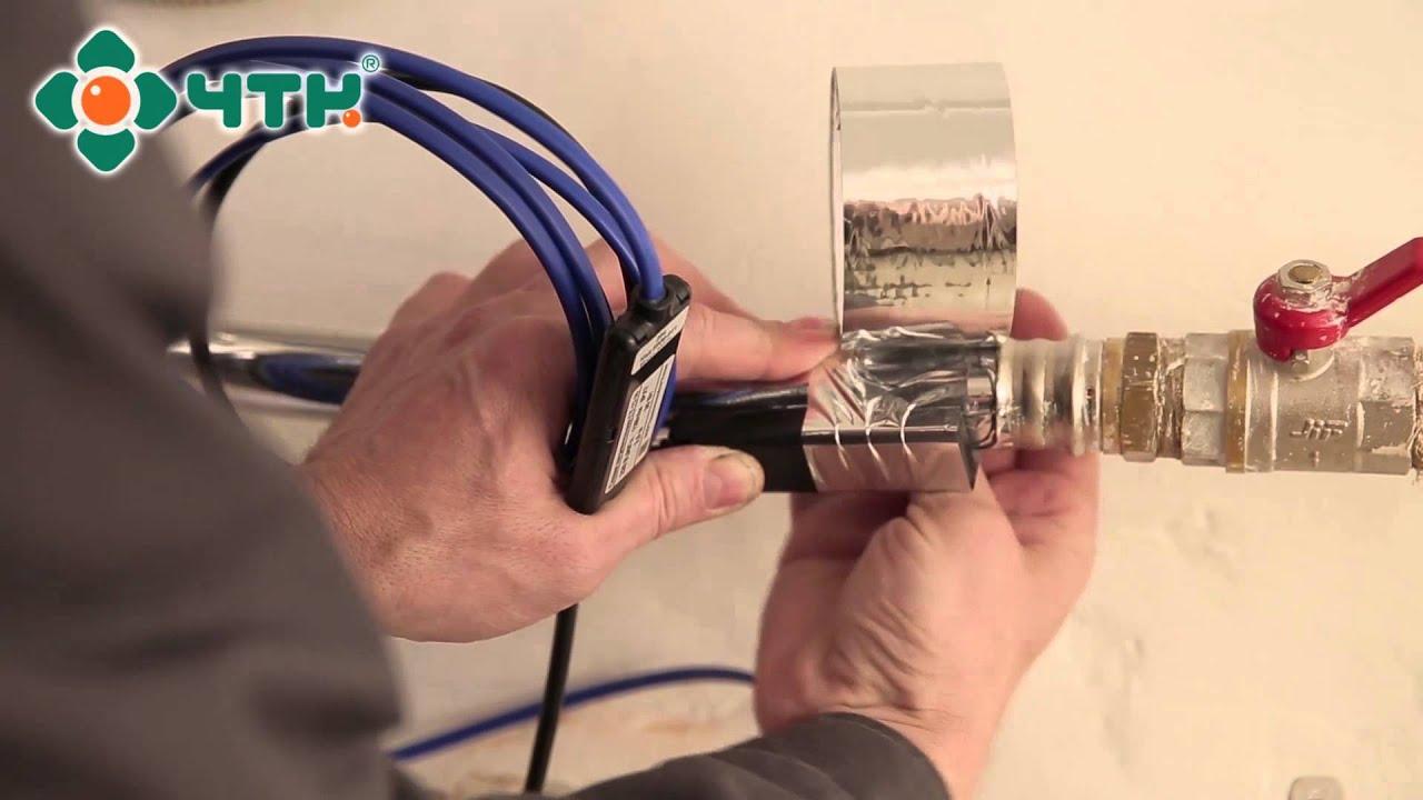 Монтаж кабеля для обогрева труб своими руками