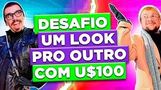 DESAFIO - MONTAMOS UM LOOK CAFONA PRO OUTRO COM 100 DOLS | Diva Depressão