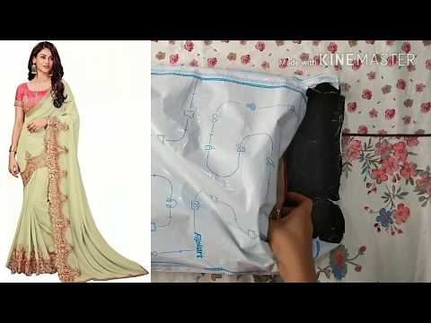 Unboxing saree embroidery designs from Flipkart | hand embroidery designs | saree ke design |  साड़ी