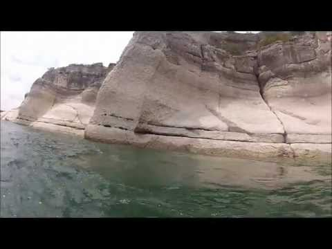 Cliff diving in Del Rio