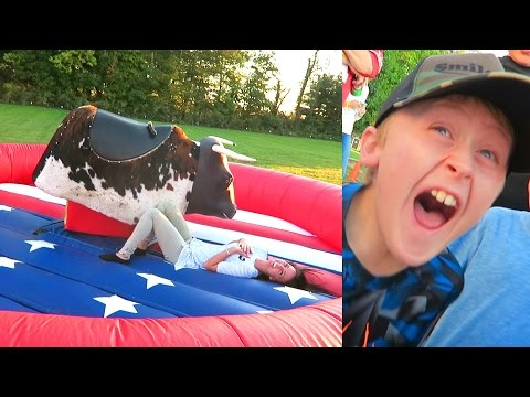 WE BROKE HIM!! INSANE BULL RIDING CHALLENGE!!