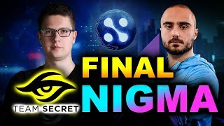 NIGMA vs SECRET - GRAND FINAL - WEPLAY! MAD MOON DOTA 2