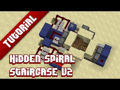 Minecraft Tutorial: Hidden Spiral Staircase V2 - Now with actual stairs!