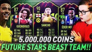 FIFA 19: OMG 5 MILLIONEN FUTURE STARS TEAM! FUTURE STAR SQUAD BUILDER 😱😱