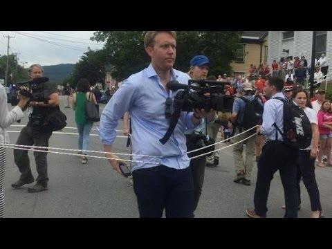 Hillary corrals the media