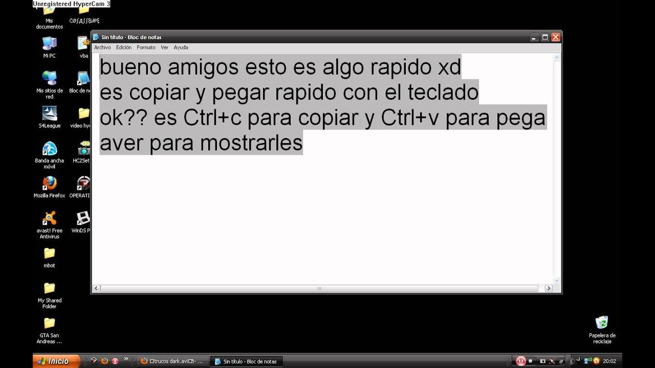 como copiar y pegar con el teclado - YouTube